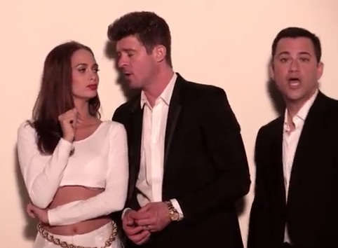 Jimmy Kimmel trolle le clip Blurred Lines