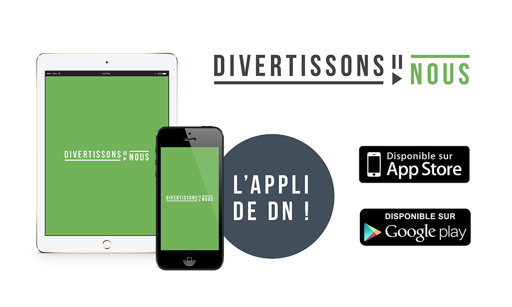 Application DivertissonsNous sur iPhone/iPad et Android